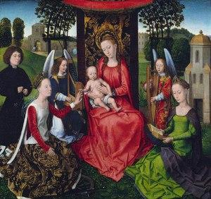 Hans Memling, Virgin and Child with Saints Catherine and Barbara, 1479, Metropolitan Museum of Art, New York