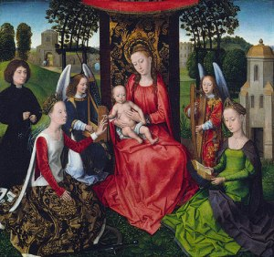 Hans Memling, Virgin and Child with Saints Catherine and Barbara, 1479, Metropolitan Museum of Art, New York
