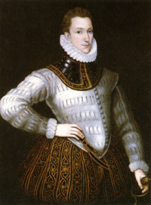 Description Sir Philip Sidney, by unknown artist, National Portrait Gallery, London.
