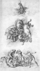 The Fall of Phaeton (1533) Michelangelo Black chalk Royal Library, Windsor