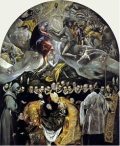 The Burial of Count Orgaz (1568-1588)          El Greco          Church of Santo Tomé, Toledo
