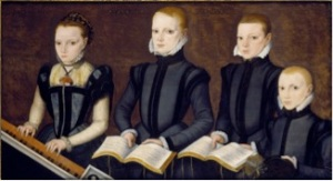 Master of the Countess of Warwick (fl. later 1560s)      Unidentified English family group