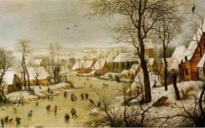 Winter Landscape with a Bird Trap (1565) Pieter Bruegel Wiltshire, Wilton House